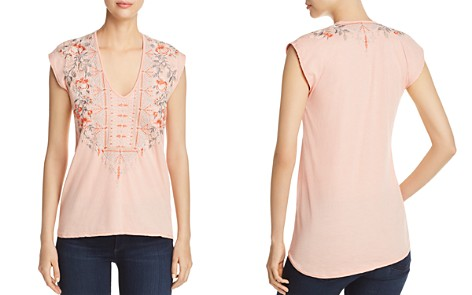 Johnny Was Calida Embroidered Cap-Sleeve Top - Bloomingdale's_2