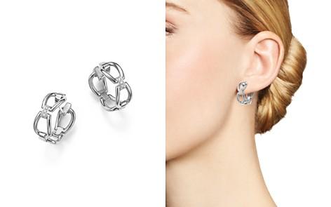Roberto Coin 18K White Gold Classic Parisienne Diamond Hoop Earrings - 100% Exclusive - Bloomingdale's_2