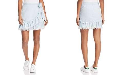 BLANKNYC Ruffled Chambray Wrap Skirt - Bloomingdale's_2
