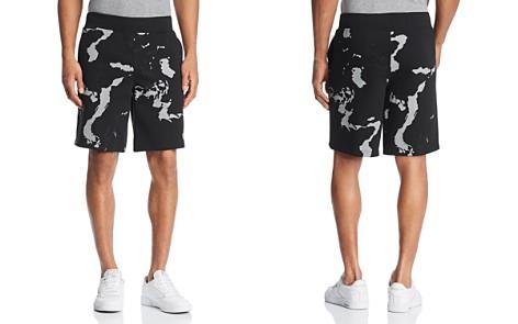 BLACKBARRETT by Neil Barrett Globe Print Sweat Shorts - Bloomingdale's_2