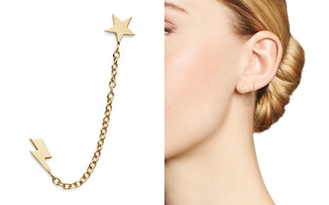 Zoë Chicco 14K Yellow Gold Itty Bitty Star & Lightning Bolt Double Piercing Earring - Bloomingdale's_2