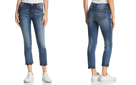 AQUA Cropped Scallop-Hem Jeans in Indigo - 100% Exclusive - Bloomingdale's_2