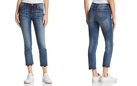 AQUA Cropped Scallop-Hem Jeans in Indigo - 100% Exclusive - Bloomingdale's_2