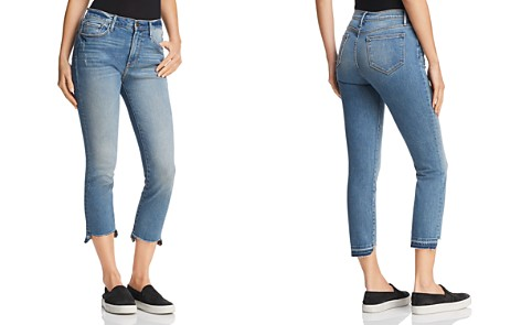 AQUA Cropped Step-Hem Jeans in Medium Indigo - 100% Exclusive - Bloomingdale's_2