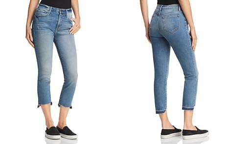AQUA Cropped Step-Hem Jeans in Medium Indigo - 100% Exclusive - Bloomingdale's_2