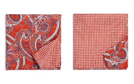 The Men's Store at Bloomingdale's Paisley/Houndstooth Pocket Square - 100% Exclusive_2