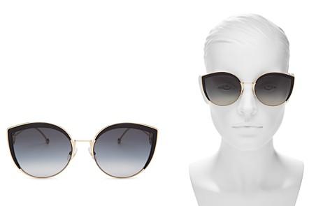 Fendi Women's Oversized Rimless Cat Eye Sunglasses, 61mm - Bloomingdale's_2