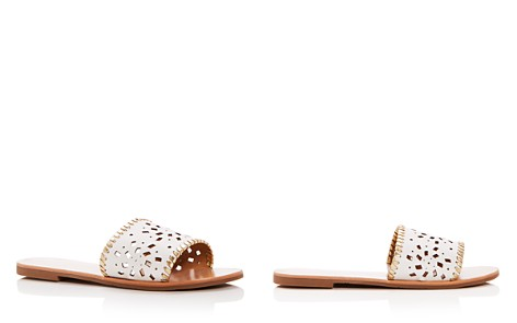 Jack Rogers Women's Delilah Perforated Leather Slide Sandals - Bloomingdale's_2