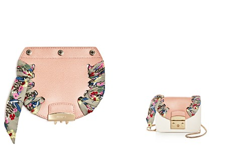 Furla MY PLAY Interchangeable Metropolis Mini Floral Print Scarf Leather Flap - Bloomingdale's_2