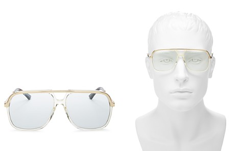 Gucci Vintage Web Brow Bar Aviator Sunglasses, 56mm - Bloomingdale's_2