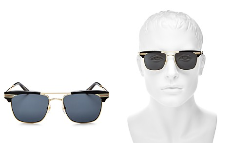 Gucci Brow Bar Square Sunglasses, 55mm - Bloomingdale's_2
