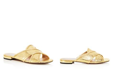 MARC JACOBS Women's Aurora Leather Crisscross Slide Sandals - Bloomingdale's_2