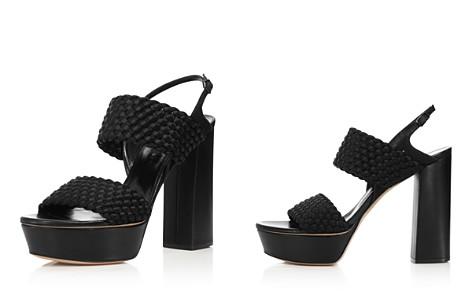 Casadei Women's Tresse Woven Satin Platform High-Heel Sandals - Bloomingdale's_2