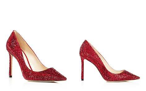Jimmy Choo Women's Romy 100 Swarovski Crystal Embellished Leather High-Heel Pumps - Bloomingdale's_2