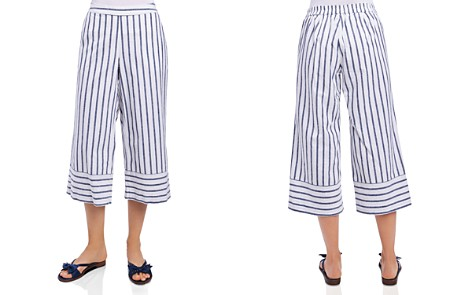 Foxcroft Striped & Cropped Chambray Pants - Bloomingdale's_2