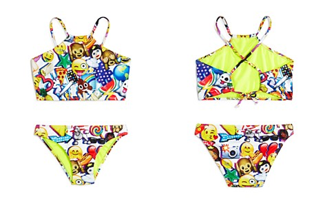 Terez Girls' Emoji-Print 2-Piece Swimsuit - Big Kid, Little Kid - Bloomingdale's_2
