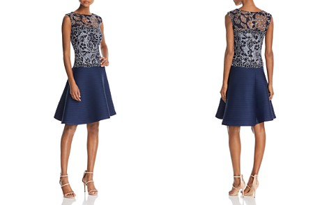 Tadashi Shoji Sleeveless Lace Fit-and-Flare Dress - Bloomingdale's_2