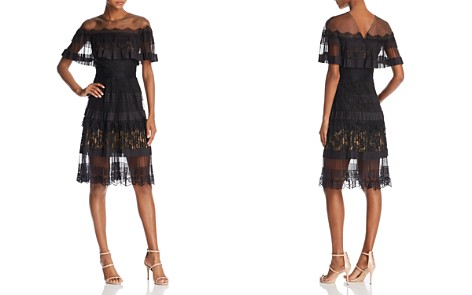 Tadashi Shoji Illusion-Off-the-Shoulder Lace Dress - Bloomingdale's_2
