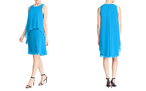Lauren Ralph Lauren Petites Tiered Overlay Dress - Bloomingdale's_2
