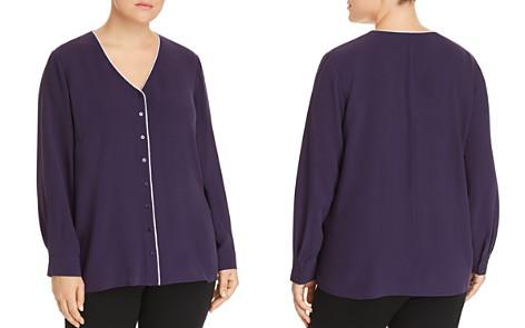 Eileen Fisher Plus Silk Pajama Top - Bloomingdale's_2