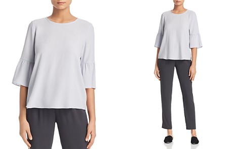Eileen Fisher Silk Bell-Sleeve Top - Bloomingdale's_2