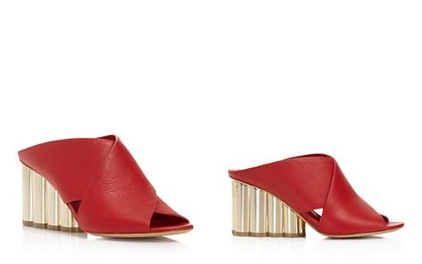 Salvatore Ferragamo Women's Lasa Leather Crisscross Floral Wedge Slide Sandals - Bloomingdale's_2