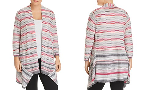NIC and ZOE Plus Marled-Stripe Open Cardigan - Bloomingdale's_2