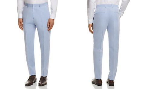 BOSS Linen Solid Slim Fit Dress Pants - Bloomingdale's_2
