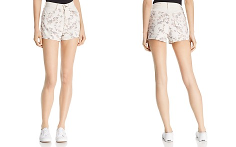 rag & bone/JEAN Ellie Floral Print Denim Shorts in Micro Floral - Bloomingdale's_2