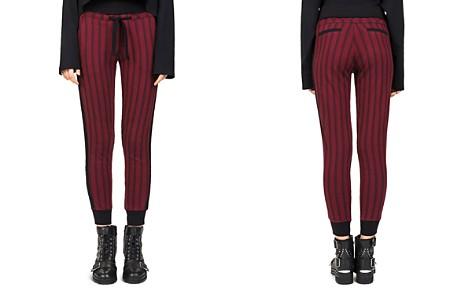 The Kooples Striped Burgundy Skinny Jogger Pants - Bloomingdale's_2