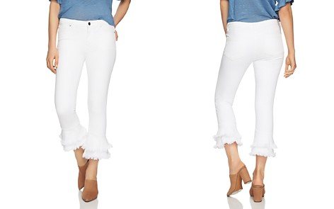 1.STATE Frayed Ruffle Ankle Jeans in Ultra White - Bloomingdale's_2