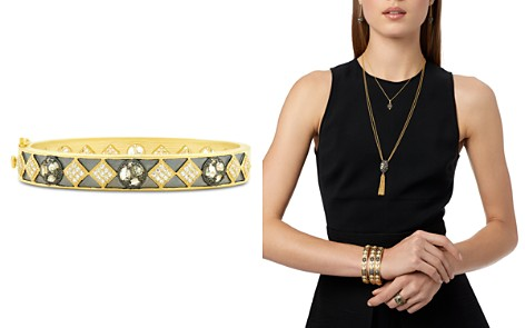 Freida Rothman Rose d'Or Pavé Cluster Bangle Bracelet - Bloomingdale's_2