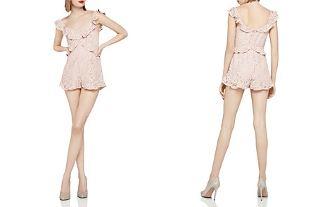 BCBGeneration Ruffled Lace Romper - Bloomingdale's_2