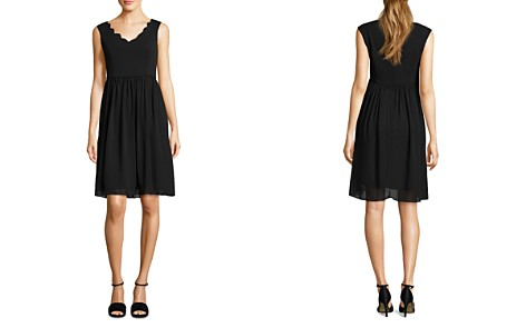 Adrianna Papell Sleeveless Scalloped Dress - Bloomingdale's_2