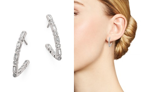Bloomingdale's Diamond V-Drop Earrings in 14K White Gold, 0.33 ct. t.w. - 100% Exclusive _2