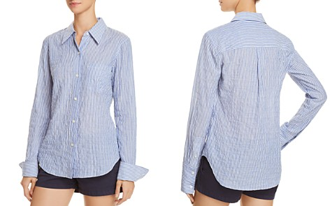 Theory Slim Textured Shirt - Bloomingdale's_2
