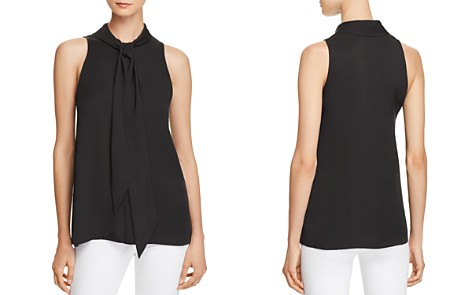 Theory Tie-Neck Silk Top - Bloomingdale's_2