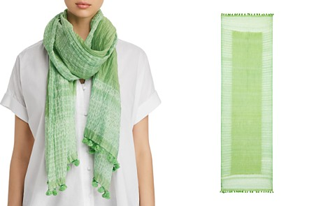 Eileen Fisher Semi-Sheer Border Scarf - Bloomingdale's_2