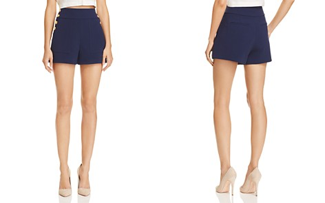Alice + Olivia Donald Side-Button Shorts - Bloomingdale's_2