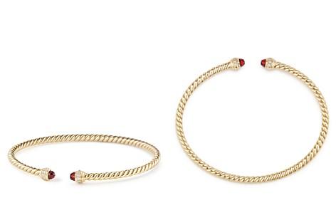 David Yurman Cable Spira Bracelet in 18K Gold with Garnet & Diamonds - Bloomingdale's_2