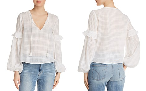 Splendid Balloon Sleeve Ruffled Top - Bloomingdale's_2