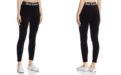 Juicy Couture Black Label Logo-Trim Velour Leggings - Bloomingdale's_2