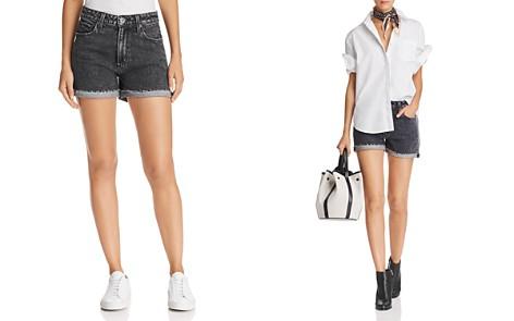 PAIGE High Rise Sarah Denim Shorts in Zephra - Bloomingdale's_2