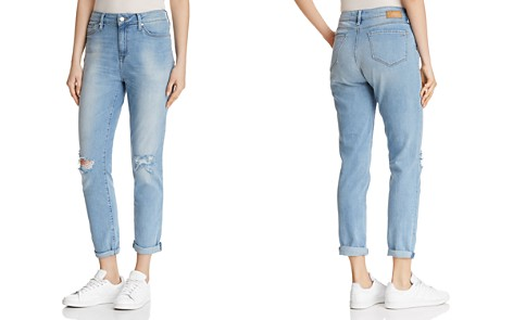 Mavi Lea Straight Jeans in Light Ripped Vintage - 100% Exclusive - Bloomingdale's_2