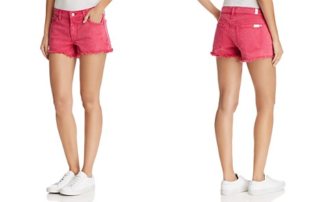 7 For All Mankind Cutoff Denim Shorts in Raspberry Sorbet - Bloomingdale's_2