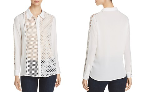 T Tahari Helene Mixed Eyelet Embroidered Blouse - Bloomingdale's_2