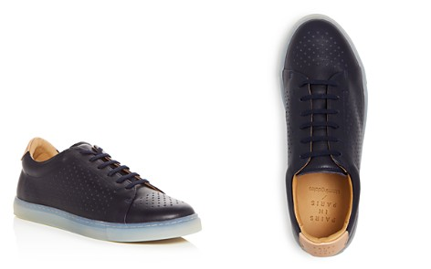 Pairs in Paris Men's No. 2 Perforated Leather Lace Up Sneakers - 100% Exclusive - Bloomingdale's_2