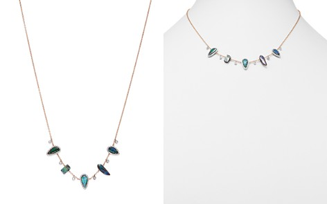 """Meira T 14K White & Rose Gold Boulder Opal & Diamond Frontal Necklace, 16"""" - Bloomingdale's_2"""