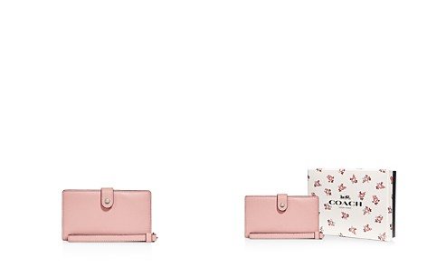 COACH Polished Pebble Leather Phone Wristlet - Bloomingdale's_2