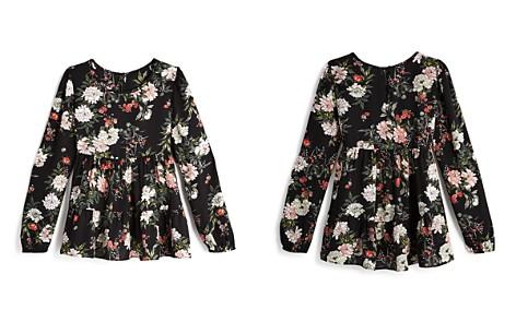 AQUA Girls' Floral Peasant Top, Big Kid - 100% Exclusive - Bloomingdale's_2